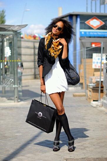 cool scarf girl