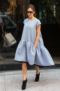 Victoria Beckham in her own design from the S/S14 collection, Photo by Flynet
