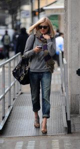 Fearne Cotton boyfriend jeans, leopard print shoes