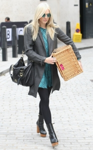 Fearne Cotton light blue dress