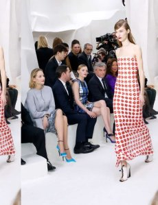 Christian Dior Front Row