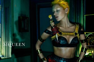 Kate Moss starring in McQueen's new ad campaign