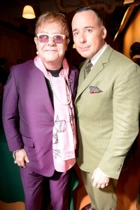 Elton and David at the Saville Row Show(Photo  by Rex)
