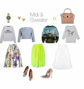 Midi and Sweater
