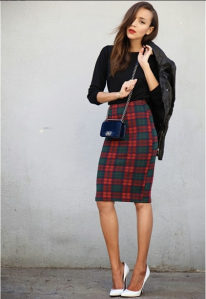 Ashley-Madekwe-in-Topshop-Tartan-skirt1