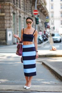 pencil skirt stripes