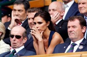 Victoria Beckham watching Wimbledon