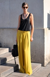 Wide Led Pants Summer Street Style