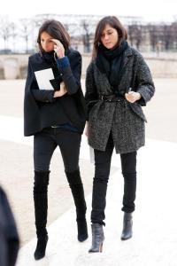 Emmanuale Alt and Geraldine Saglio boots in winter