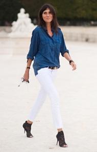Emmanuelle Alt white jeans