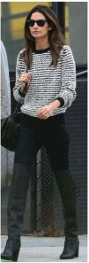 Lilly Aldridge Skinny jeans high boots