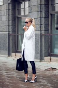 White coat black clothes