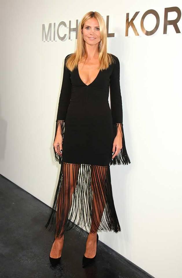 Heidi Klum Fringe Skirt