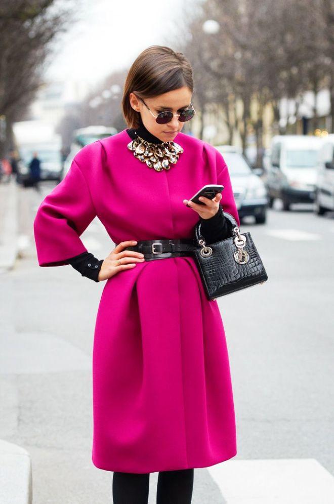 Miroslava Duma Bright Pink Coat
