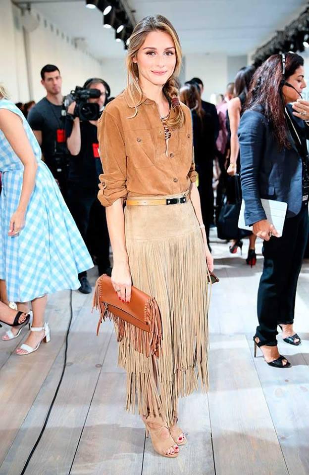 Olivia Palermo Fringe Skirt