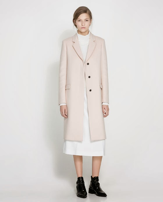 Pale Pink Wool Coat