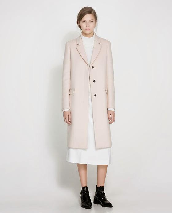 Pale Pink Wool Coat
