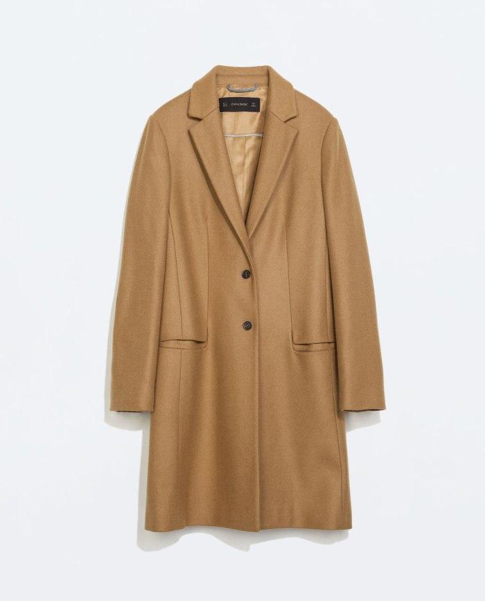 Zara Camel Coat AW 14