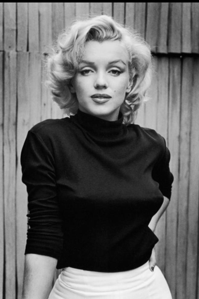 Marilyn Monroe Black Polo Neck 682x1024