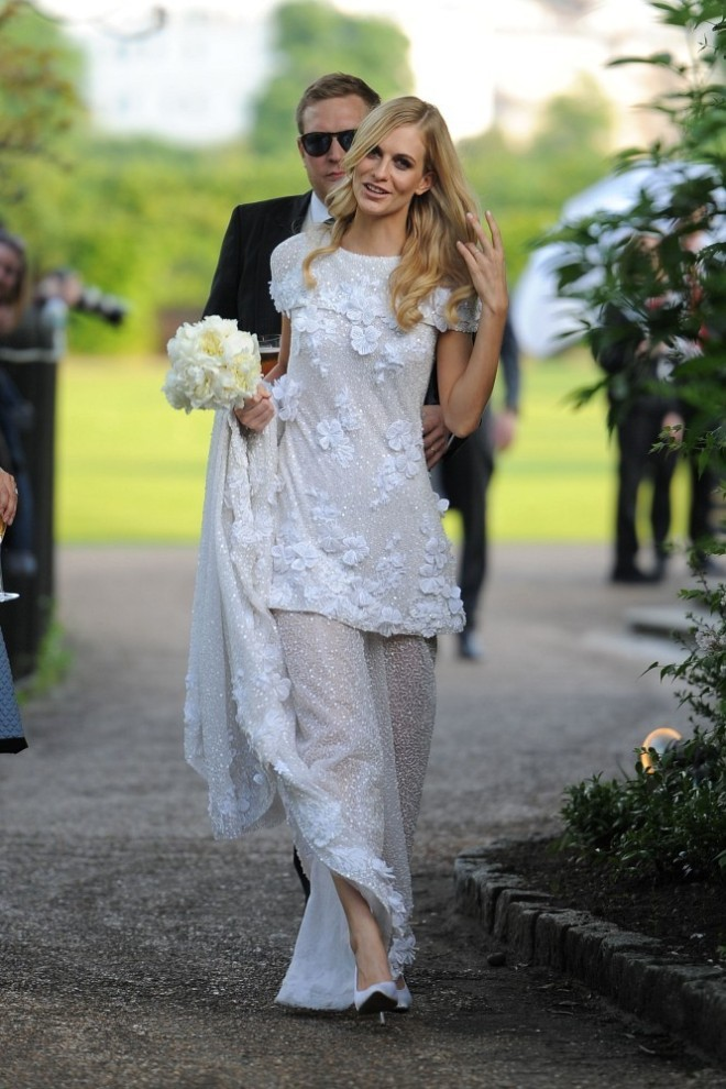 Poppy Delevigne Wedding Dress