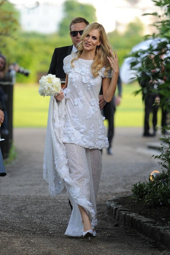 Poppy Delevigne Wedding Dress