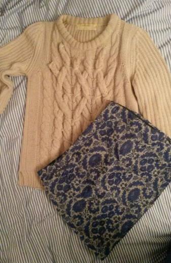 Zara knit Zara skirt