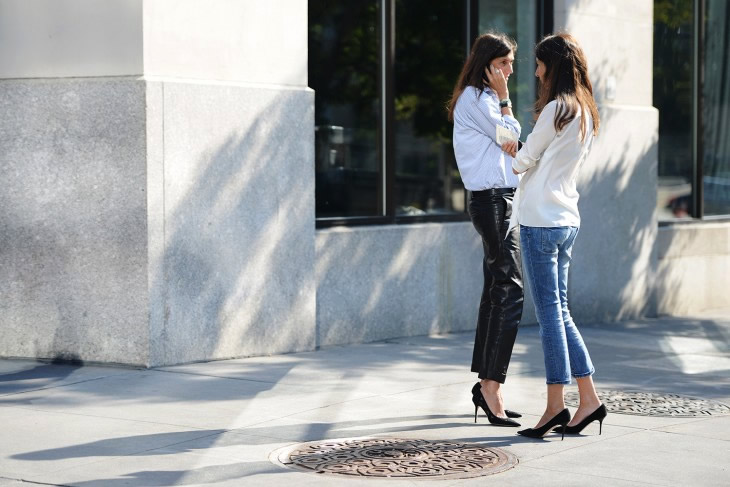 Image result for Street style pics black pumps