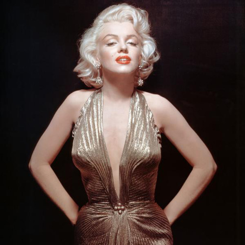Marilyn Monroe Gold Dress