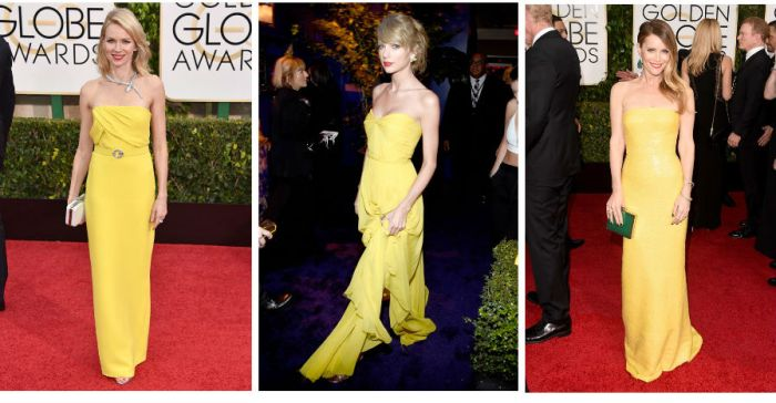 Yellow at the Golden Globes