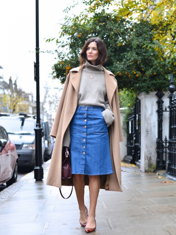 What To Wear With A Line Denim Skirt - Dress Ala