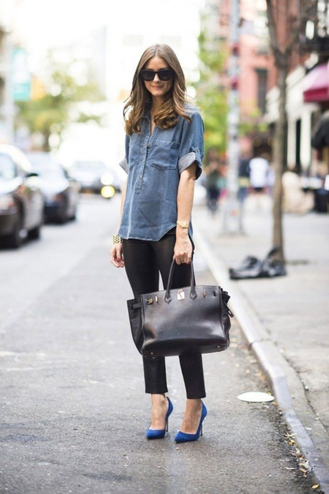 olivia p denim shirt