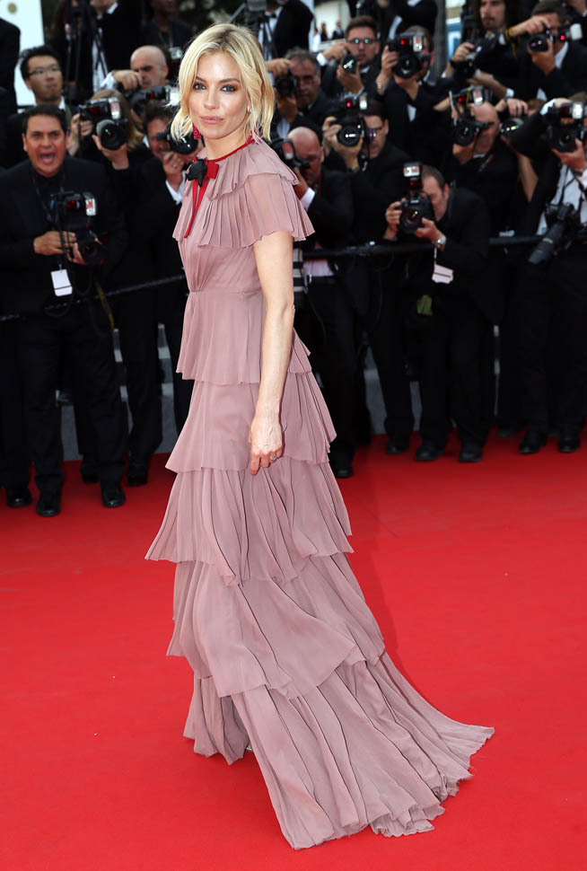 "51752384 Celebrities attend the ""Macbeth"" premiere during the 68th Annual Cannes Film Festival on May 23, 2015 in Cannes, France. Celebrities attend the ""Macbeth"" premiere during the 68th Annual Cannes Film Festival on May 23, 2015 in Cannes, France. Pictured: Sienna Miller FameFlynet, Inc - Beverly Hills, CA, USA - +1 (818) 307-4813 RESTRICTIONS APPLY: USA ONLY"