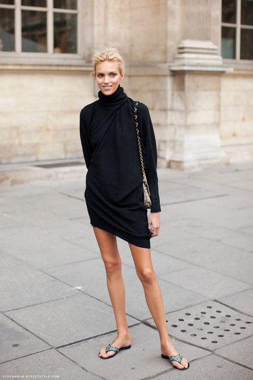 black-turtleneck-dress