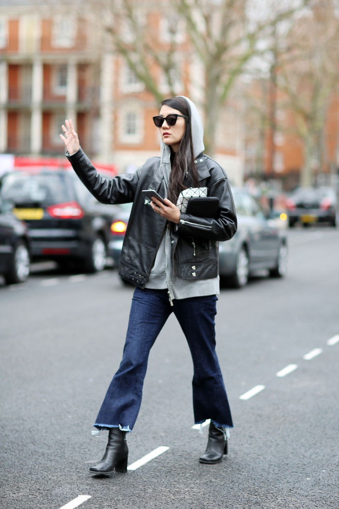 Street Style at Autumn Winter 2015, London Fashion Week, Britain - 24 Feb 2015