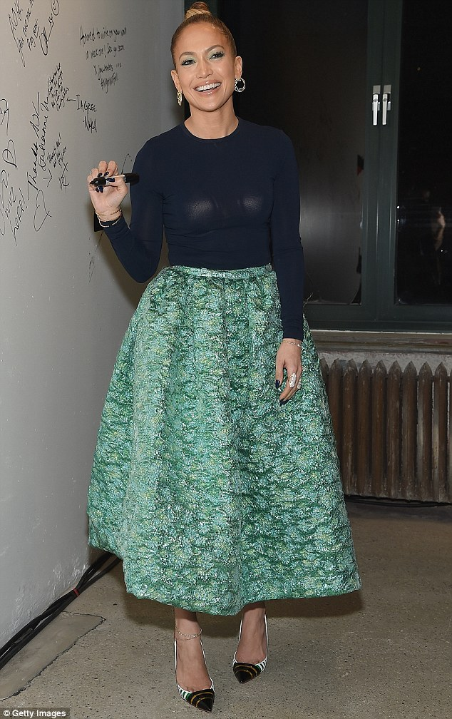 jennifer lopez midi skirt