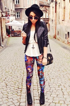 printed leggings leisure for pleasure