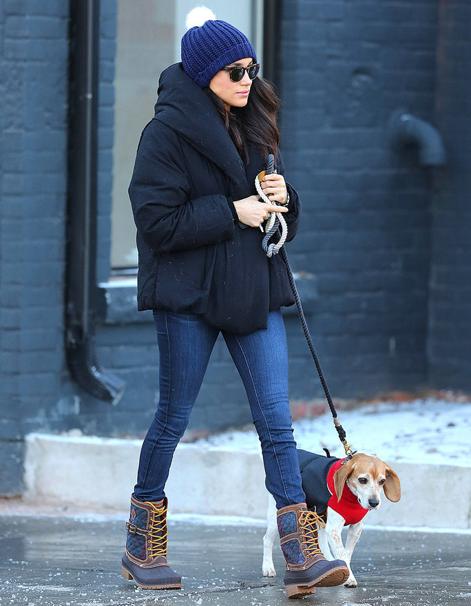 EXCLUSIVE: **PREMIUM EXCLUSIVE RATES APPLY NO WEB UNTIL 11PM PST FRIDAY DEC 9TH** Meghan Markle spotted taking her dog Bogart to the Animal Hospital in Toronto